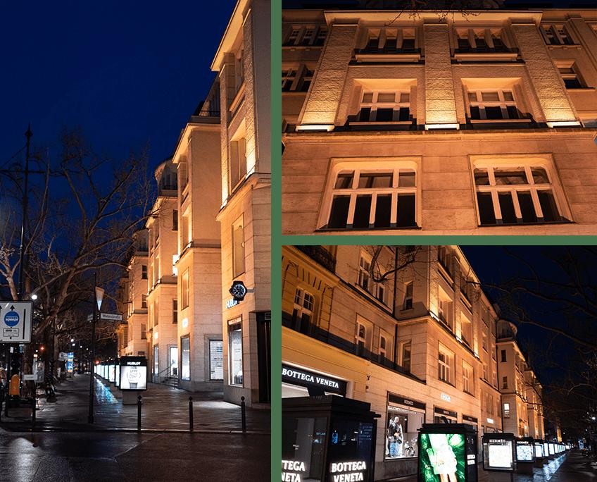 Fassadenbeleuchtung am Kudamm